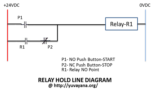 relay hold line diagram