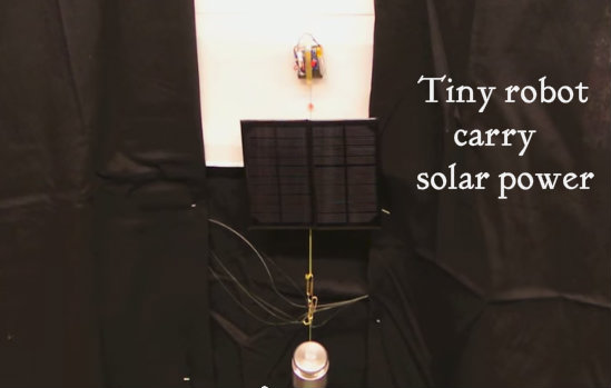 robot with carry solar power