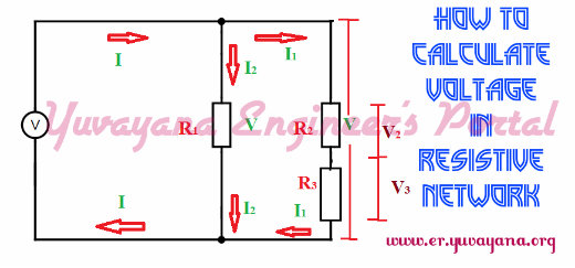 Voltage calculaion in series and parallel resistor