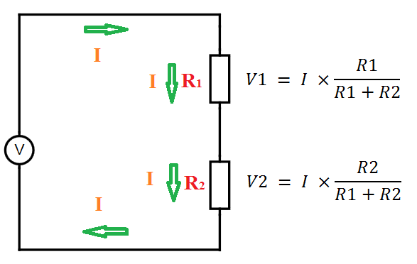 Voltage calculaion in series resistor