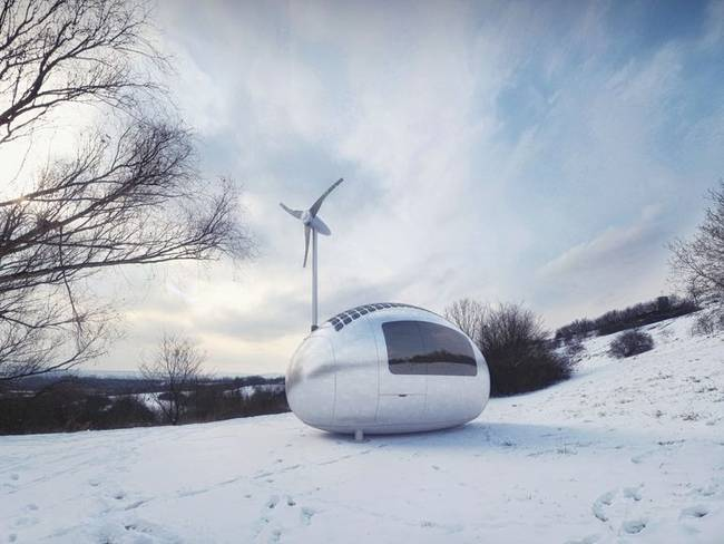 ecocapsule portable low energy tiny home
