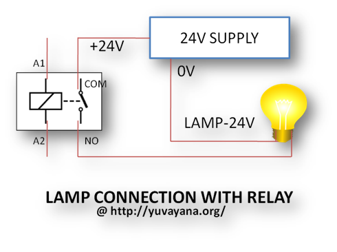 how to create relay logic circuit examples engineer s portal lamp connection relay diagram