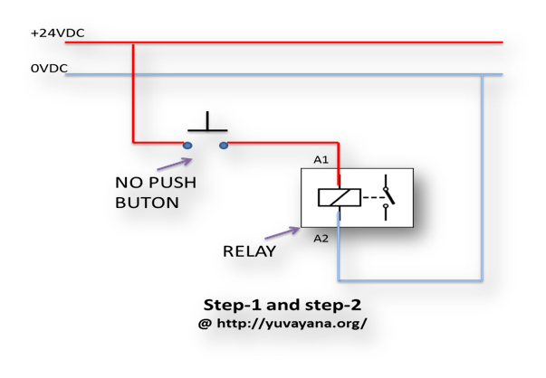 Relay logic control wiring diagram
