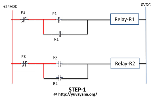 how to make Relay logic circuit - Step 1