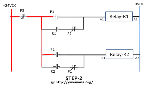 how to make Relay logic circuit - Step 2