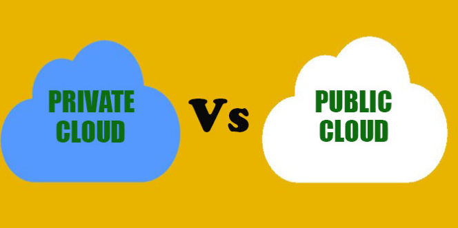 Difference between Public cloud and Private cloud